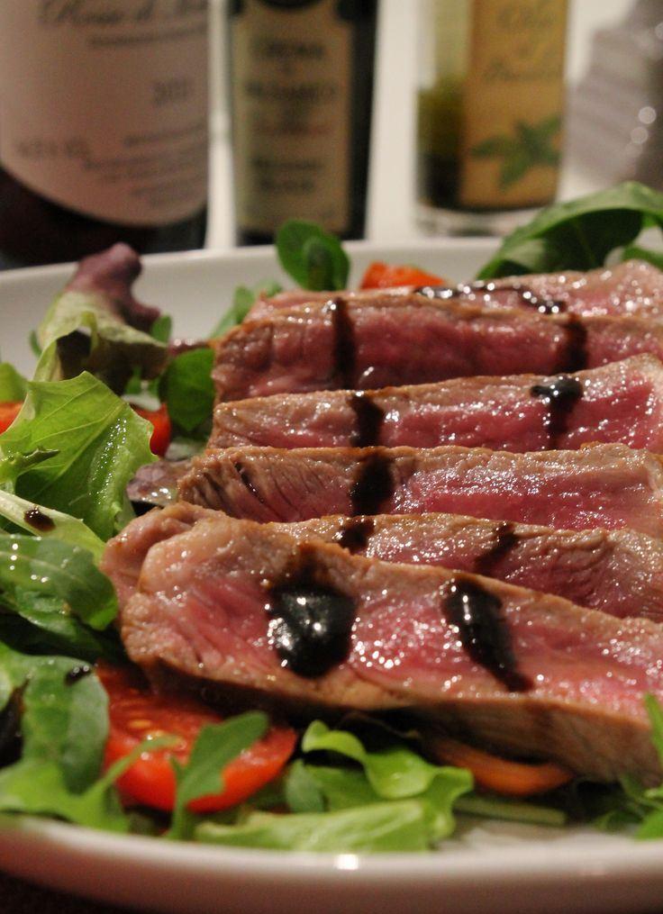 Tagliata with balsamic vinegard