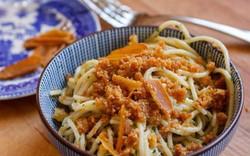 Spaghetti with tuna bottarga