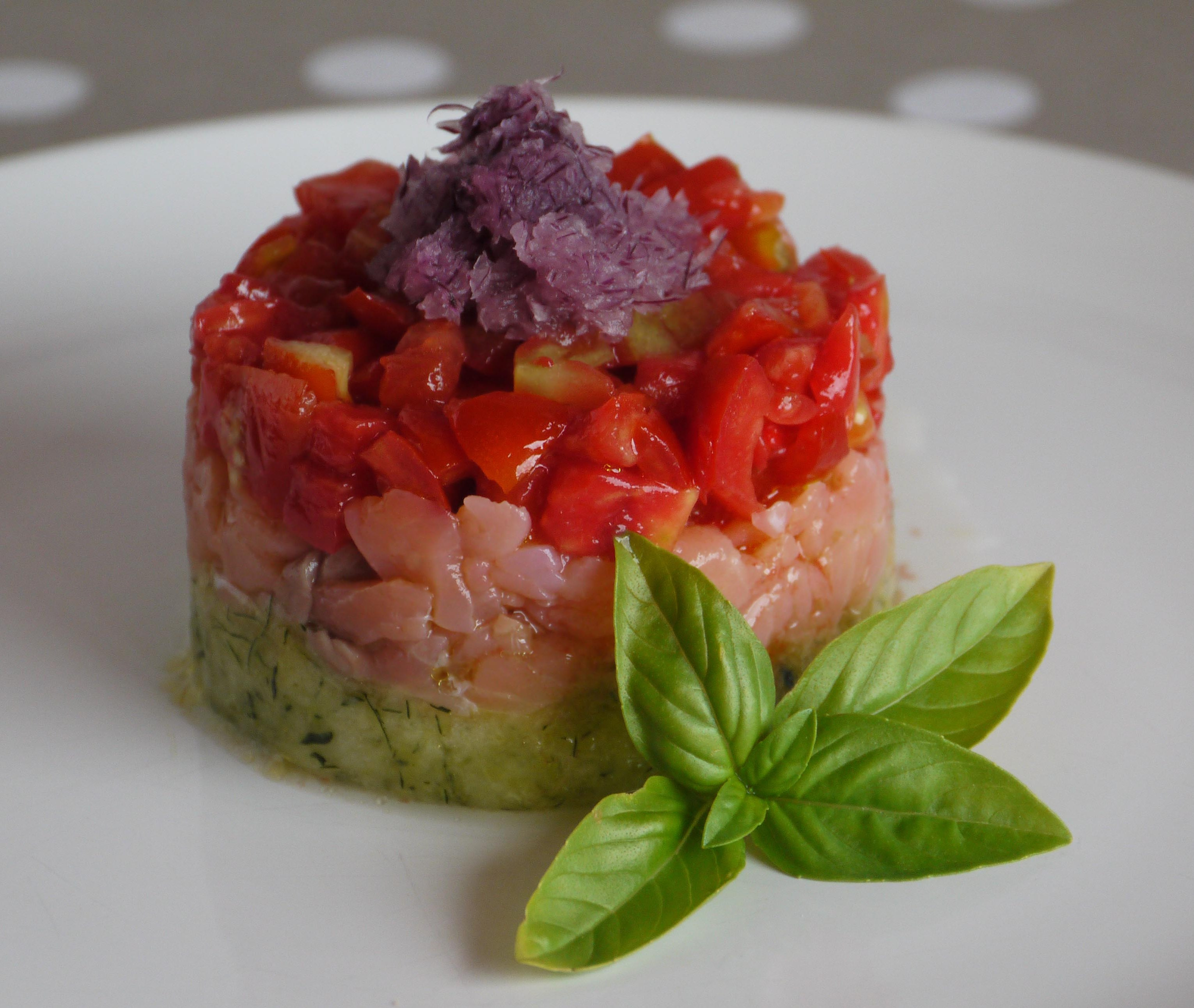 Tartare with avocado and tomatoes