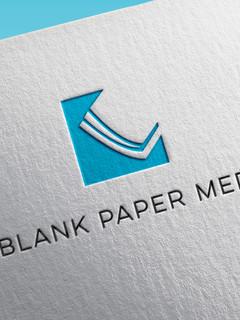 Blank Paper Media Logo Design
