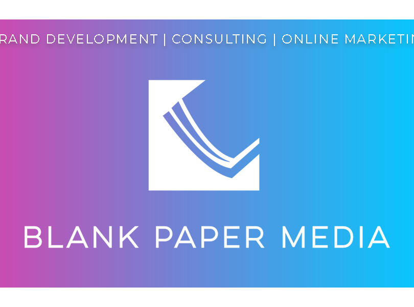 Blank Paper Media Business Card