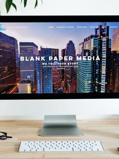 Blank Paper Media Website