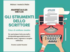 I martedì di Atelier: promo Webinar 24.11.2020