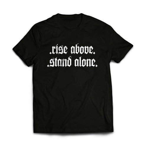 ES RISE ABOVE STAND ALONE TEE BLACK