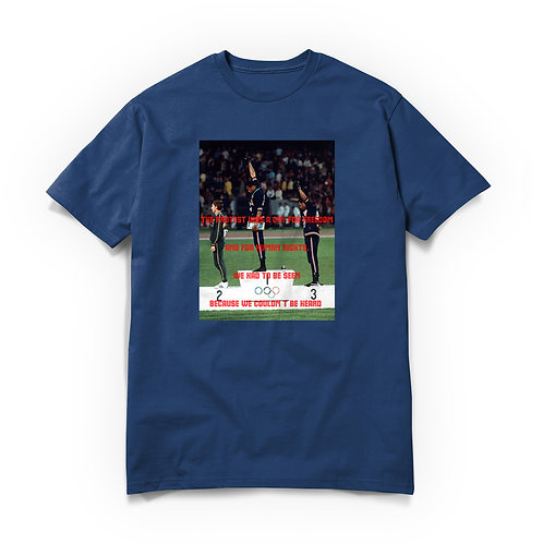 RAREBREED OLYMPIC PROTEST 1968 TEE COOL BLUE