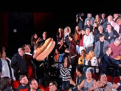 Armie Hammer shooting Hot Dog Cannon Oscars 2018
