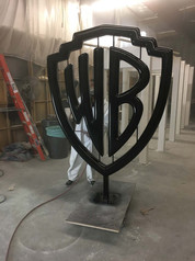 Warner Brothers Chrome Sculpture