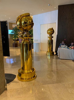 Golden Globes Chromed Sculptures