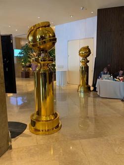 Golden Globes Chromed Sculptures