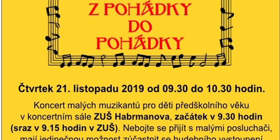 Koncert ZUŠ Habrmanova: Z pohádky do pohádky