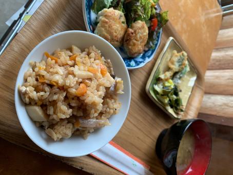筍ご飯とコシアブラの天ぷらのランチ数量限定
