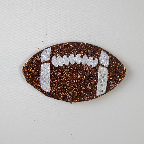 Flat Glitter-Football-Brown