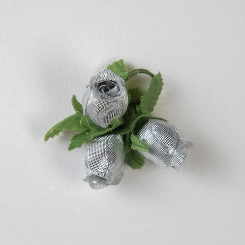 Rosebuds (3)-silver