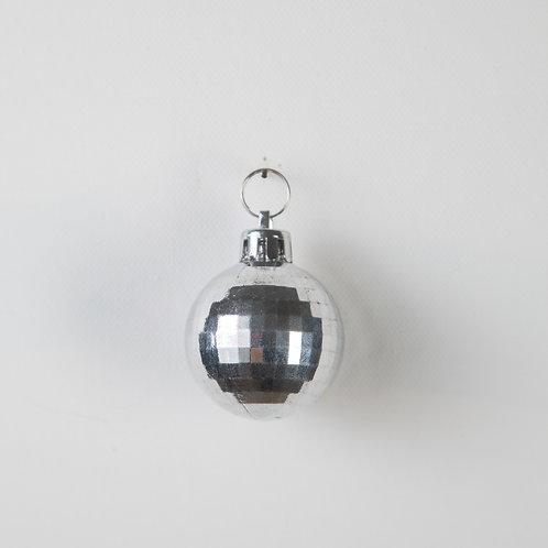 Disco Ball Keychain-silver