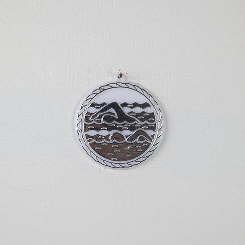 Swimming-silver