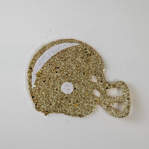 Flat Glitter-Helmet-gold