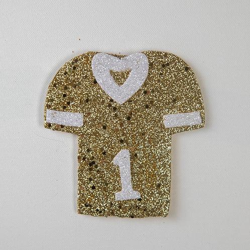 Flat Glitter-Jersey-gold