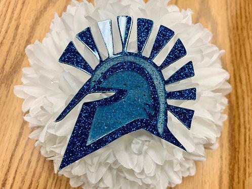 Blue Acrylic Spartan Head