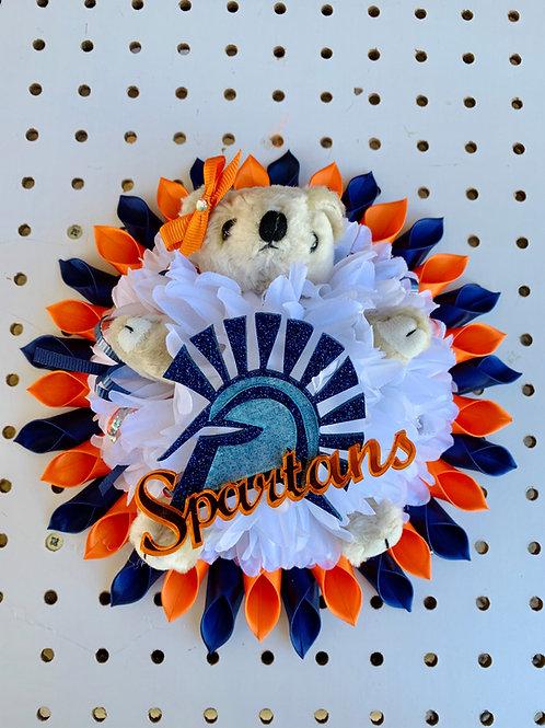 Acrylic Spartans Head & Full Flower Bear Combo