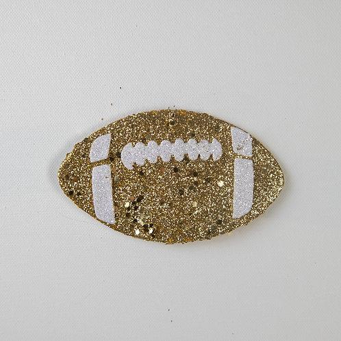Flat Glitter-Football-gold
