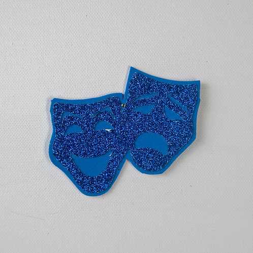 Flat Glitter-Theater Masks-Navy