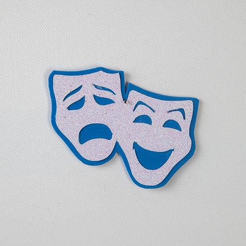 Flat Glitter-Theater Masks-Silver