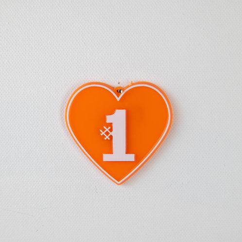 #1 Heart-orange