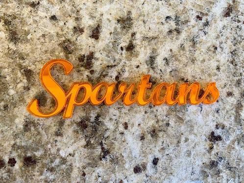 """Acrylic """"Spartans""""-Orange"""