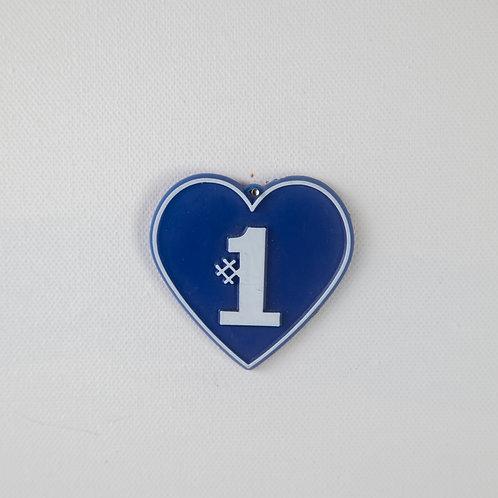 #1 Heart-blue