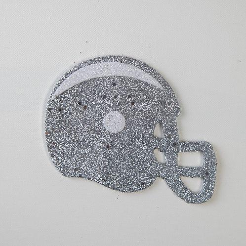 Flat Glitter-Helmet-Silver