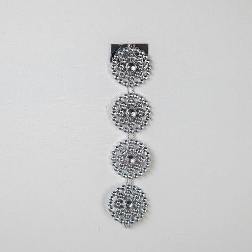Medallion Chain Flower Silver