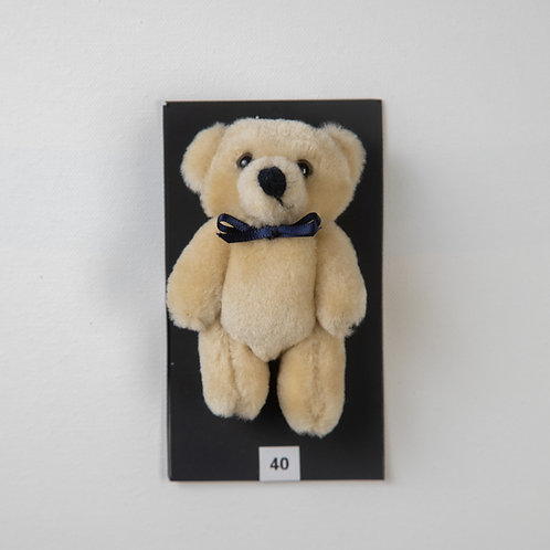 Small Bow Bear Beige