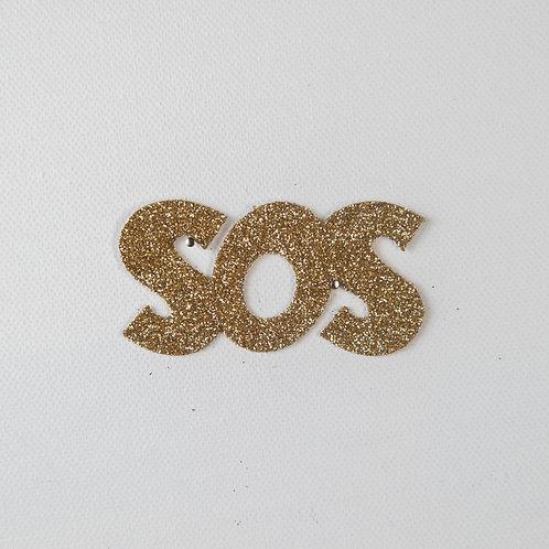 Flat Glitter-SOS-gold