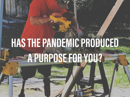 Has The Pandemic Produced a Purpose For You?