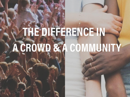 Crowd vs. Community