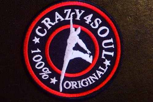 CRAZY 4 SOUL - IRON ON /SEW ON PATCH