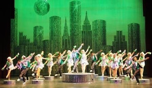 Heather Youmans and the company of Moonlight Amphitheatre's 42nd Street