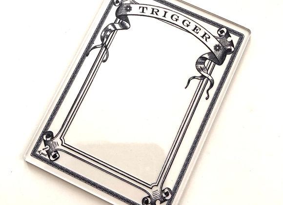 APCT012 Trigger 1 Clear Acrylic Printed Token