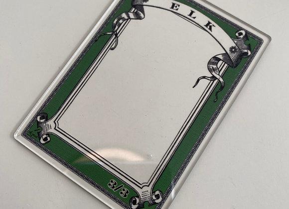 APCT022 Elk 1 Clear Acrylic Printed Token