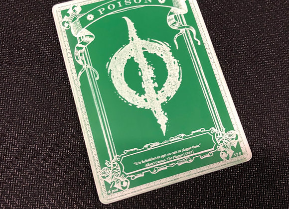 AET008 Poison Counter 2 Acrylic Etched Token