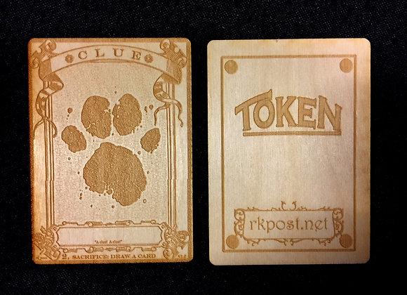 WT006 Clue 4 Wood Token
