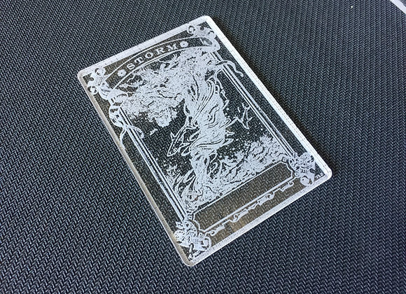 AET007 Storm Counter 1 Acrylic Etched Token