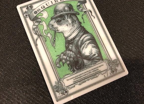 APT033 Squirrel 1 Acrylic Printed Token