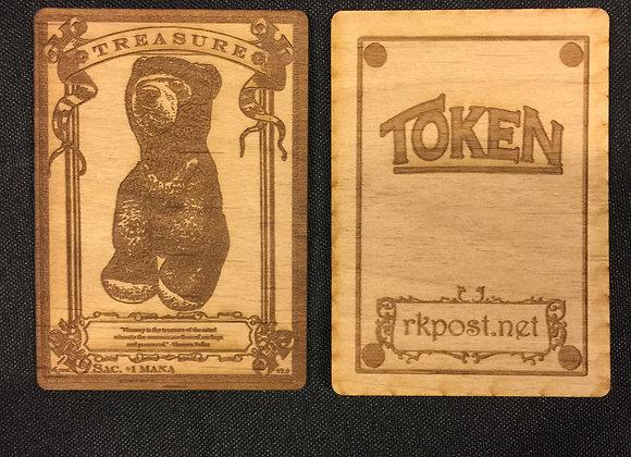 WT063 Treasure 1 Wood Token