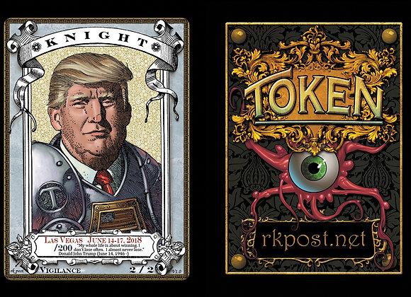Random High# Vegas 2018 Trump Knight 4 Token