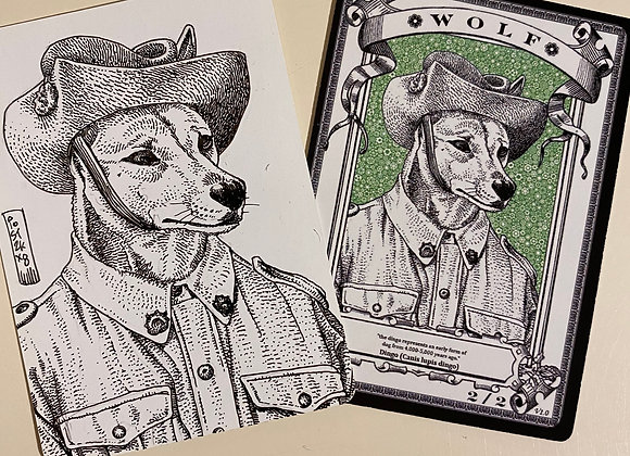 OTA010 Original Wolf 10 Token Art