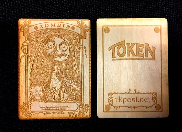 WT017 Zombie 17 Wood Token