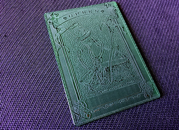 AET003 Green Mana Counter 1 Acrylic Etched Tkn