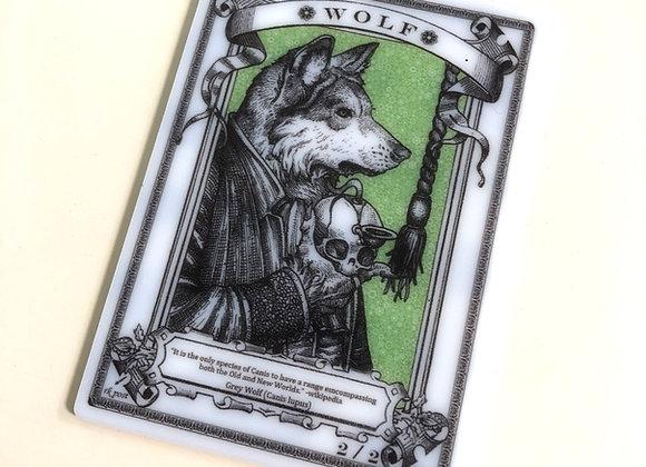 APT085 Wolf 1 Acrylic Printed Token