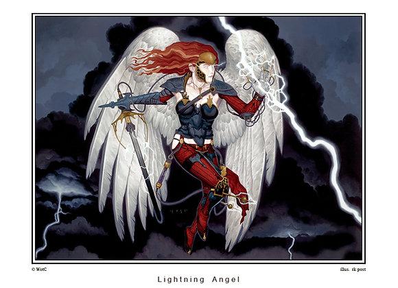 LP03 Large Lightning Angel Print